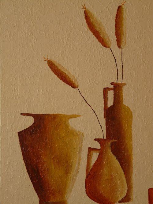 dažymas,natiurmortas,fjeras,valstiečių menas,Krug,Molinė puodynė,ąsočiai,skubėti