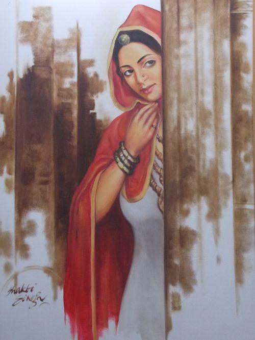 painting lady wait