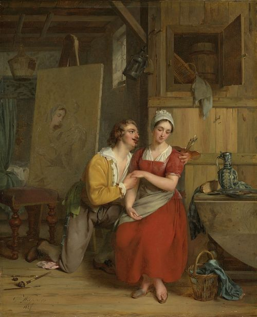 painting in love persons