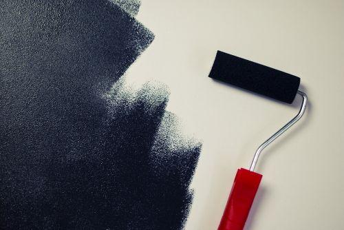 dažymas,dažų volelis,juoda