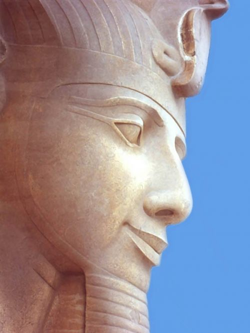Painting Of Statue Of Pharaoh