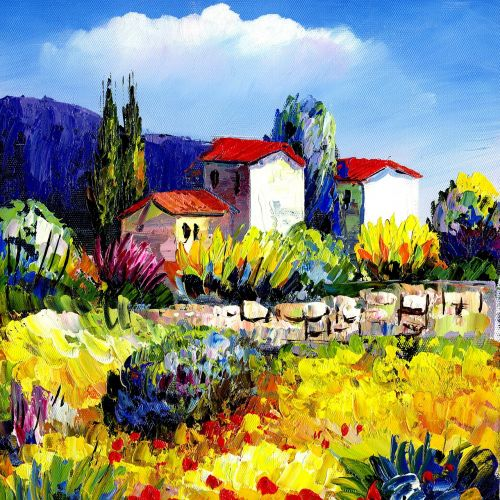 paintings oil painting countryside