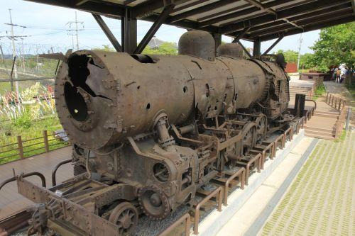 paju imjingak park tune station steam locomotive