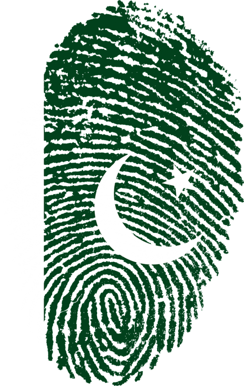 pakistan flag fingerprint