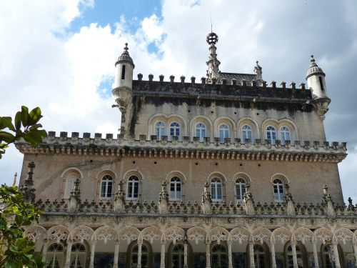rūmai,pilis,architektūra,istoriškai,fasadas,manuelinisch,bussacowald,langas,portugal,stulpelis,arcade