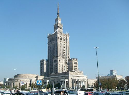 palace of culture warsaw the city centre