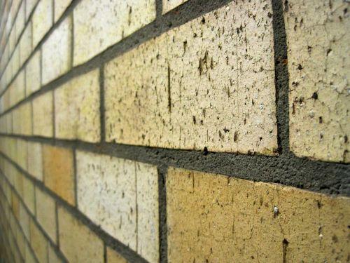 Pale Yellow Brick Wall