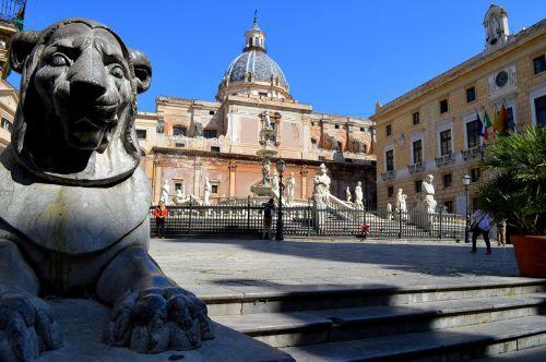 palermo fontana fountain praetorian