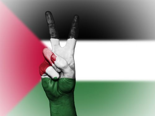 palestinian territories peace hand