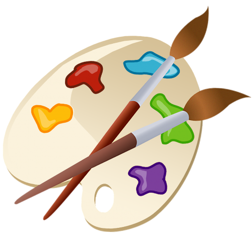 palette paint brushes