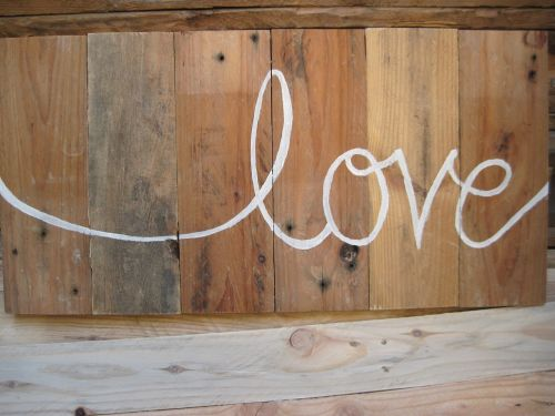 pallet wood sign rustic