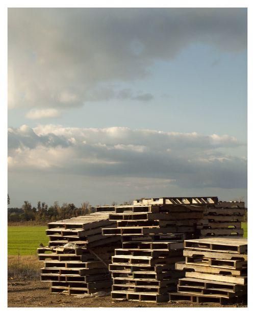pallets wooden pallets sky