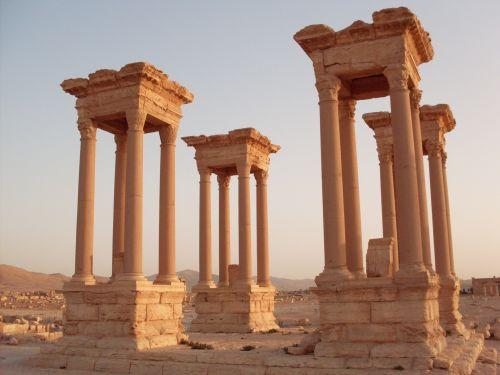 Palmyra, Colonnade, Syria,