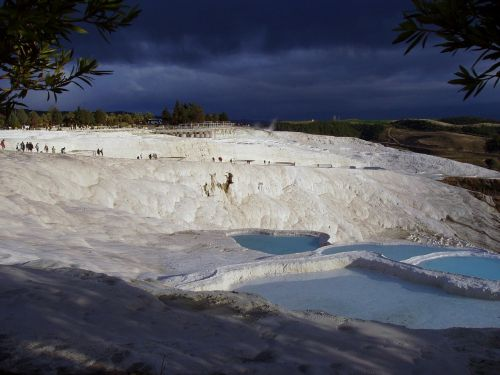 pamukkale limestone terraces swim