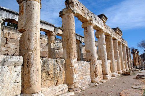 pamukkale column ancient