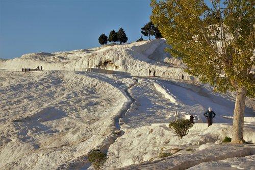 pamukkele  turkey  snow