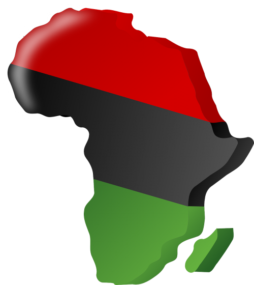 pan-african flag africa continent
