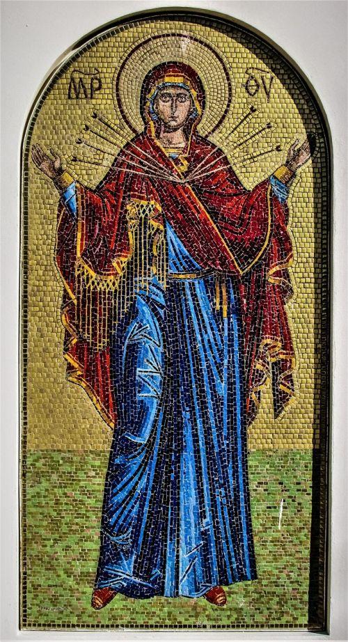 panagia semistrelia mosaic russian