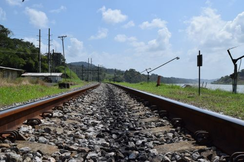 panama train's rails cargo train