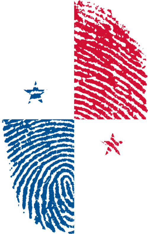 panama flag fingerprint