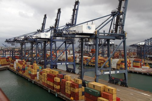 panama canal  port  containers
