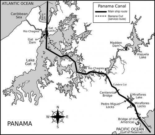 panama canal,panama map,isthmus of panama,canal de panamá,shipping canal,map,free vector graphics