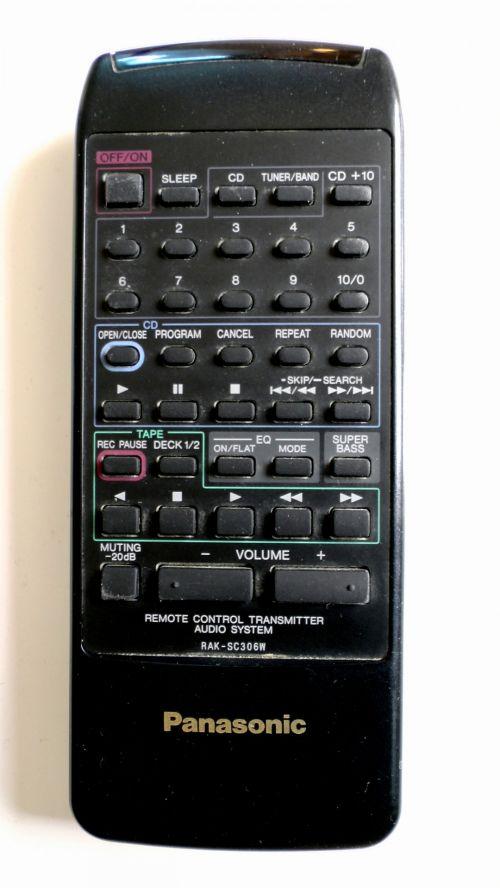 Panasonic RAK SC306W Remote Control