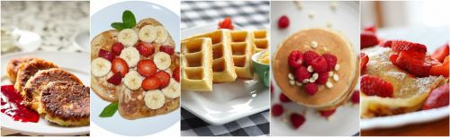 pancake breakfast food collage