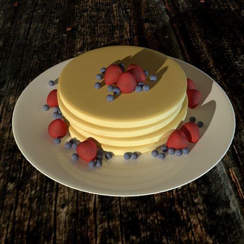 pancake 3d breakfast