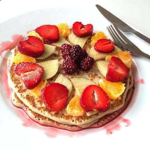 pancake mat strawberries