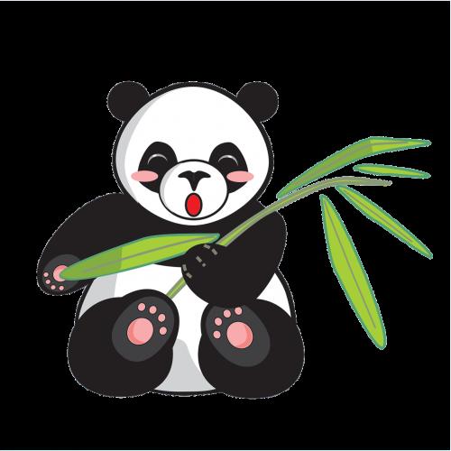 panda cartoon cute