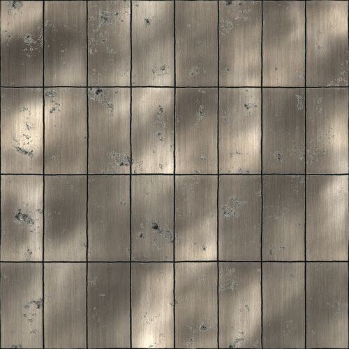 panel tile brushed metal