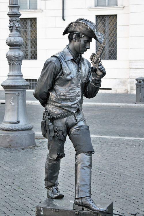 panel street artists cowboy