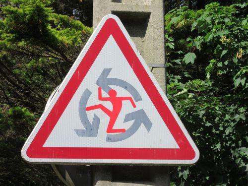 panel road sign karate