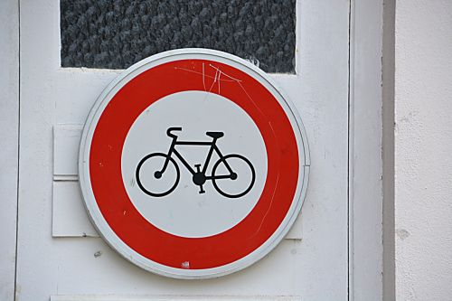 panel traffic bicycle