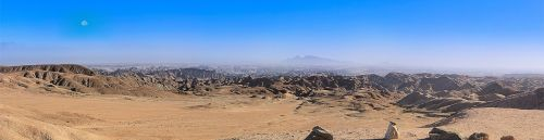 panorama,africa,namibia,desert,lunar landscape,landscape,sky,mountain landscape,freedom,wide,moon