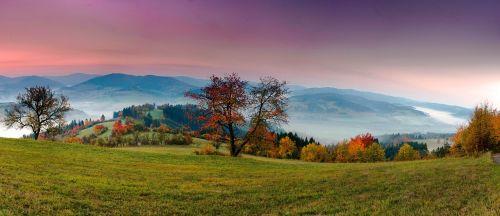 panorama,kraštovaizdis,gamta,vaizdas,dangus,aušra,saulėtekis,ruduo,romantika