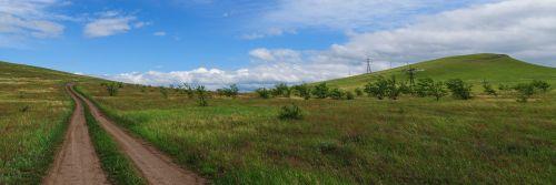 panorama road mountains