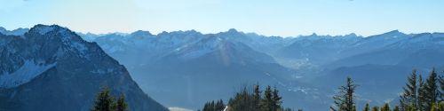 panorama alpine winter