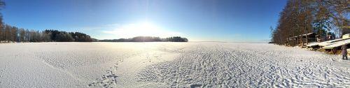 panorama lake ice