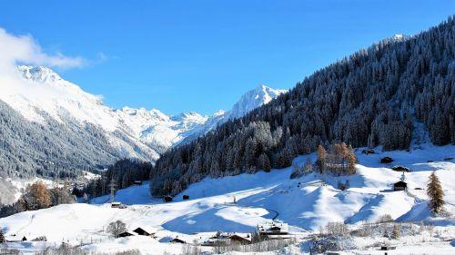 panorama winter mountains