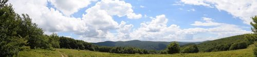 panorama mountains sky