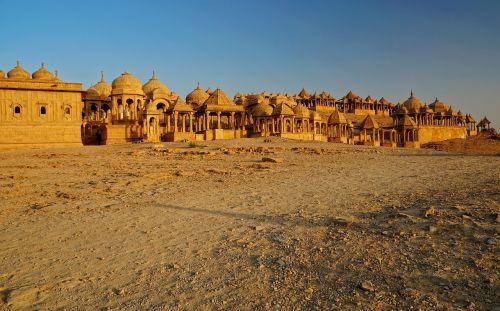panorama, dykuma, senas, bada bagh, šventykla, kultūros vieta, istoriškai, architektūra, kelionė, religija, pastatas, vakaro saulė, Indija, be honoraro mokesčio