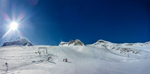 panorama kitzsteinhorn snow
