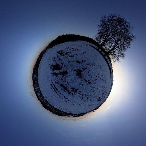 panorama  winter  landscape