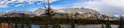 panorama  rockies  mountains