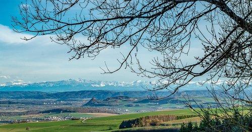 panorama  hegau  hegauer cone mountain country