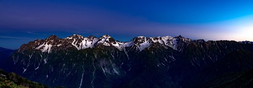 panorama  mountainous landscape  before the dawn