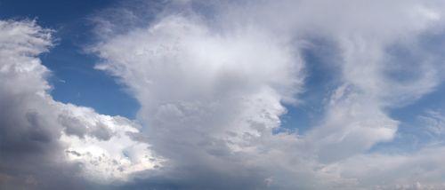panorama sky clouds