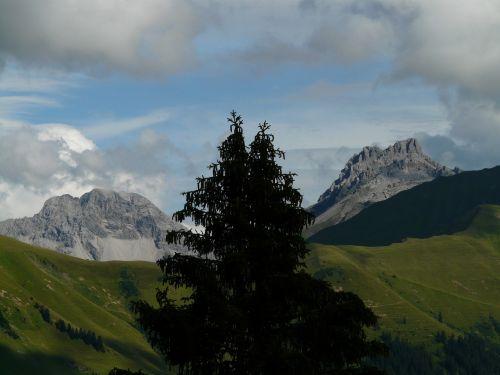 panorama alpine mountains